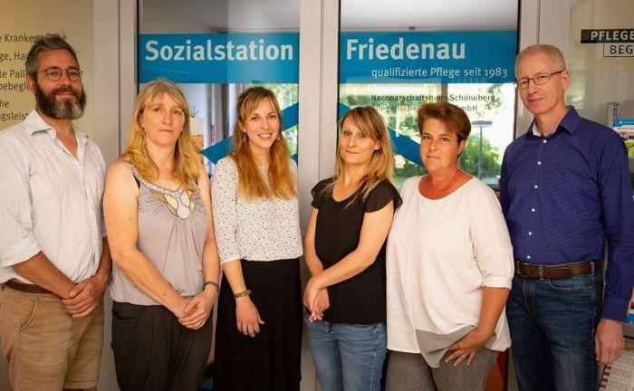 Das Leitungsteam der Sozialstation Bundesallee
